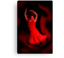 Young flamenco dancer Canvas Print