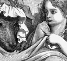 """Fairy Tale, Little Red Riding Hood, Gustave Dore 'She was astonished to see how her grandmother looked"""" Sticker"""