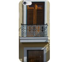 Sophisticated Wrought Iron Shadows - the Beautiful Colonial Architecture of Old San Juan iPhone Case/Skin