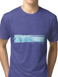 Blue watercolor background for textures and backgrounds Tri-blend T-Shirt