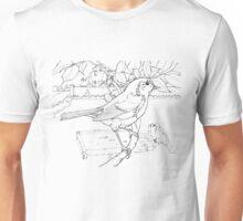 Robin Black on White Unisex T-Shirt