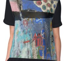 Graffiti art - abstract Chiffon Top