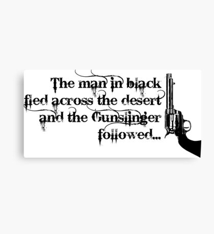 Dark Tower- Gunslinger Canvas Print