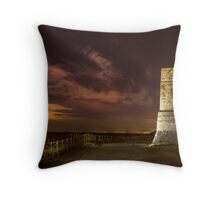 Defence tower against Arabs Throw Pillow