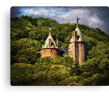 Castell Coch Rising Above The Forest Canvas Print