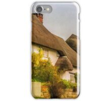 Picture postcard thatched cottages iPhone Case/Skin