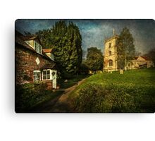 Blewbury Church and Cottages Oxfordshire Canvas Print
