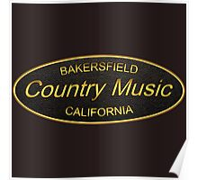 Golden Bakersfield  Country Poster