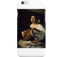 The Lute Player, Caravaggio iPhone Case/Skin