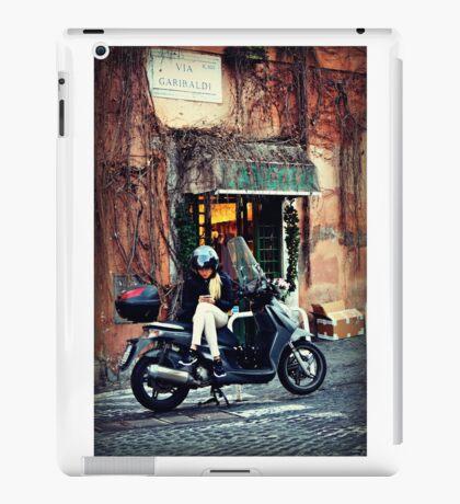 Italian beauty on her scooter iPad Case/Skin
