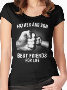 FATHER AND SON - Best friends for life T-Shirt Women's Fitted Scoop T-Shirt