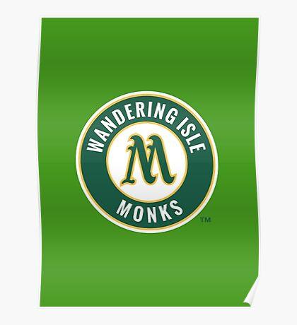 Monks - WoW Baseball  Poster