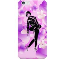 Minzy in purple flowers iPhone Case/Skin