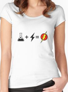 Flash equation Women's Fitted Scoop T-Shirt