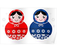 Beautiful Matroshka Doll set ( inspired by Slavic culture ) Poster