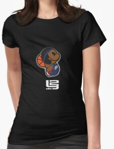 Lebron James Carttoon Womens Fitted T-Shirt