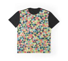 Multi Colored Triangle Pattern Graphic T-Shirt