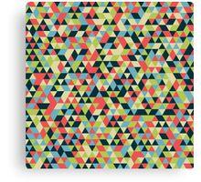 Multi Colored Triangle Pattern Canvas Print
