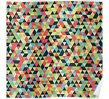 Multi Colored Triangle Pattern Poster