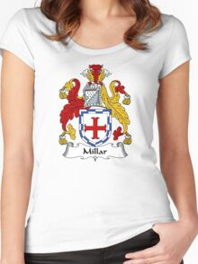 Millar Coat of Arms / Millar Family Crest Women's Fitted Scoop T-Shirt