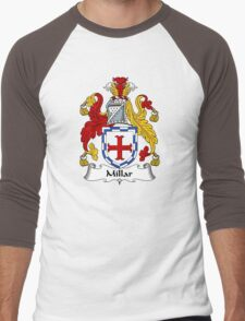 Millar Coat of Arms / Millar Family Crest Men's Baseball ¾ T-Shirt