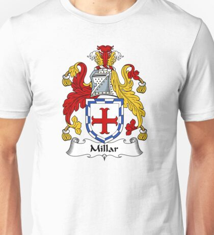 Millar Coat of Arms / Millar Family Crest Unisex T-Shirt