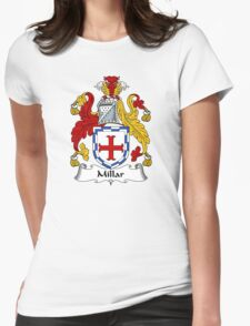 Millar Coat of Arms / Millar Family Crest Womens Fitted T-Shirt