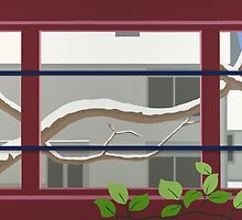 Locust Branches by Eldon Ward
