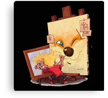 Calvin And Hobbes Sketch Canvas Print