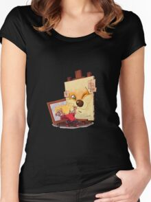 Calvin And Hobbes Sketch Women's Fitted Scoop T-Shirt