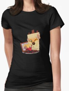 Calvin And Hobbes Sketch Womens Fitted T-Shirt