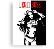 Sasha Banks Scarface Legit Boss Mashup Canvas Print