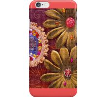 Velvet Flowers with Frame & Beads iPhone Case/Skin