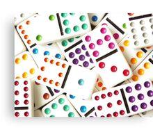 Bright Domino Spots Canvas Print