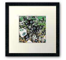 Cube Array Framed Print
