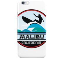 Surfing Malibu California Surf Surfboard Waves Ocean Beach Vacation iPhone Case/Skin