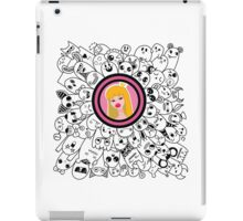 dudling patterns and ornaments from various monsters and blond girl with a crown iPad Case/Skin