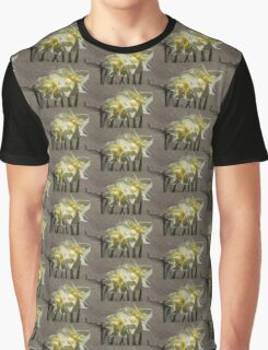 Pastel Yellow Spring - a Pair of Double Daffodils Graphic T-Shirt