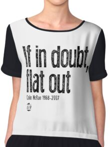 If in doubt, flat out Colin McRae  Women's Chiffon Top