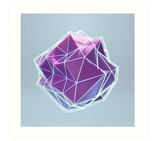 Crystalline Deformation Art Print