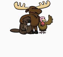 A moose, beaver and turkey walk into a bar... Unisex T-Shirt