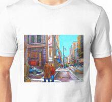 VICTORIA'S SECRET AND LA SENZA LINGERIE SHOPS MONTREAL Unisex T-Shirt
