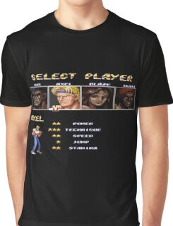 Streets of Rage 2 – Select Axel Graphic T-Shirt