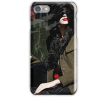 Elegance, Glamour and Chic - Bright Red Lipstick in the Shadows iPhone Case/Skin