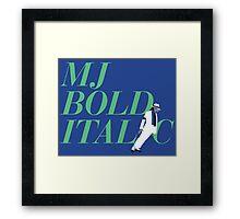 MJ Bold Italic Framed Print