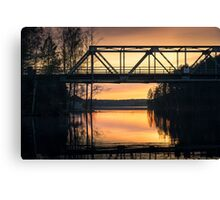 Nice evening on the bridge Canvas Print