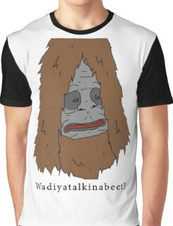 "Sassy the Sasquatch ""Wadiyatalkinabeet?"" Graphic T-Shirt"