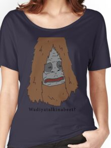 "Sassy the Sasquatch ""Wadiyatalkinabeet?"" Women's Relaxed Fit T-Shirt"