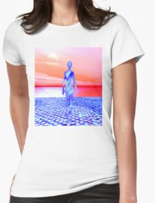 Ocean Sunrise Womens Fitted T-Shirt