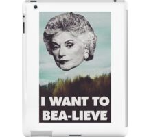 Bea Arthur - I want to Bea-lieve iPad Case/Skin